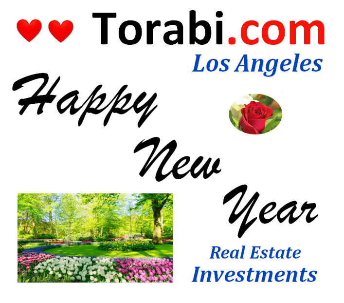 Torabi.com Real Estate Investment Happy Holidays Business Logo #losangeles