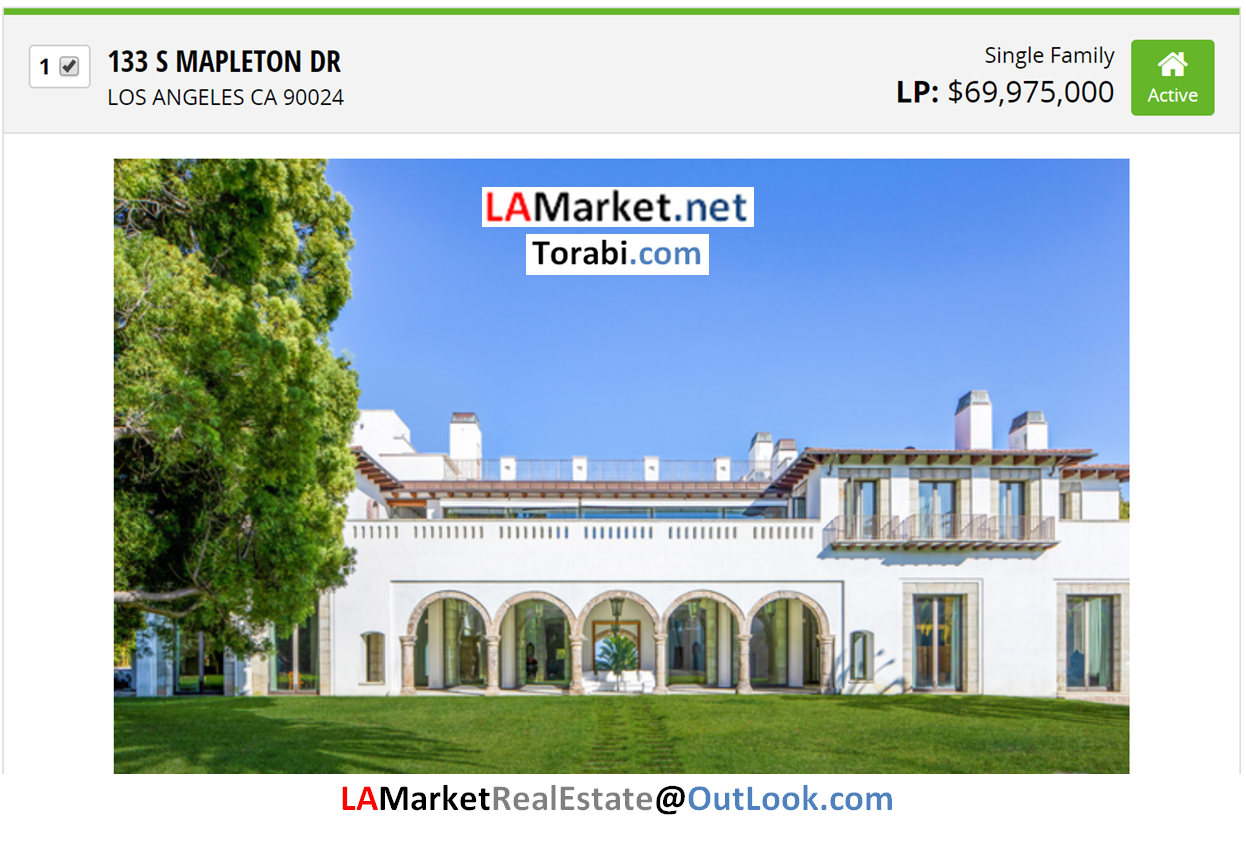 133 S MAPLETON DR LOS ANGELES CA 90024 Selected by Ehsan Torabi Los Angeles Real Estate Broker and The Real Estate Analyst for Los Angeles Homes